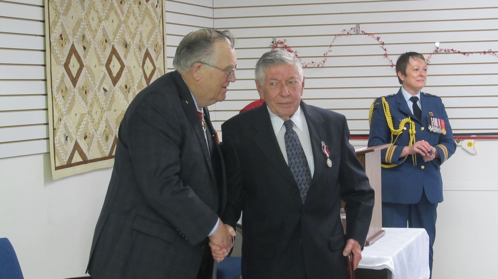 His Honour With Recipient Ken Mcintosh